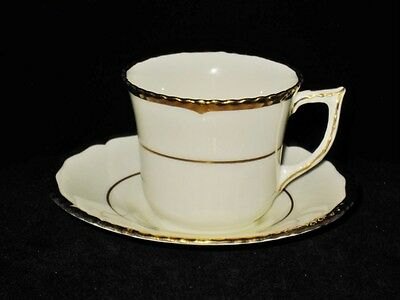 Royal Doulton CHANTILLY - Ivory & Gold - Demitasse Cup Saucer Set