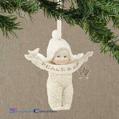 Department 56 Snowbabies 4039684 Peace To All  Ornament NEW 2014
