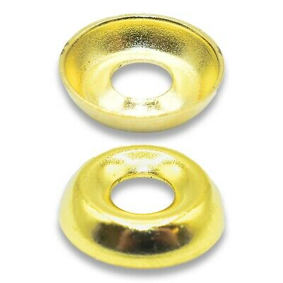 6g (3.5mm INTERNAL) ELECTRO BRASS SCREW CUP WASHERS FOR COUNTERSUNK SCREWS