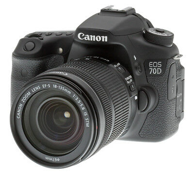 Canon EOS 70D Digital SLR Camera w/18-135mm STM Lens 8469B016