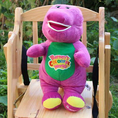 """Hot Singing Barney and Friends Barney 12"""" I LOVE YOU Song PLUSH DOLL TOY Gift"""
