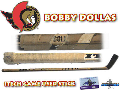 BOBBY DOLLAS Game Used Stick OTTAWA SENATORS - w/COA HOLOGRAM