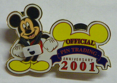 2001 Walt Disney World WDW Official Pin Trading Anniversary LE 5000