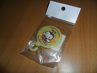 Sanrio 2001 Sweet Coron bee small travel purse keychain mirror   1  3/4 by 2.5 ""