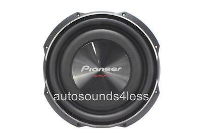 """Pioneer TS-SW3002S4 1500 Watts 12"""" Single 4 Ohm Shallow Mount Truck Subwoofer"""