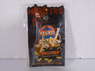 Hooters Las Vegas Casino Hotel--Girl In Pot Of Coins Pin (New)