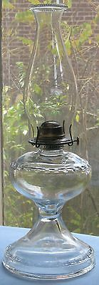 Vintage Massive Clear Glass Sewing Lamp 'giant' 1Pc #2 Insert Collar Pearl Top