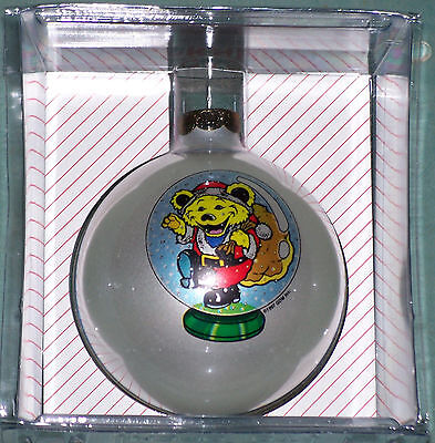 Grateful Dead Santa Dancing Bear Christmas Tree Ball Glass Ornament 1997