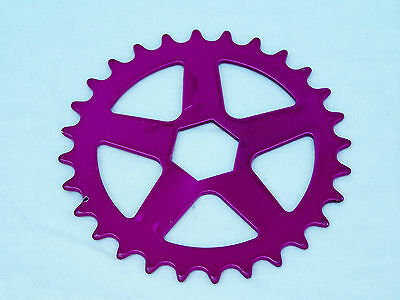 Vintage Nos Purple Bmx Front Chain Sprocket Bike Bicycle 28T
