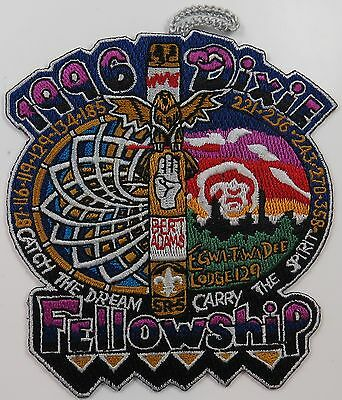 1996 Dixie Fellowship Patch w/loop Egwa Tawa Dee 129 Host [P266]
