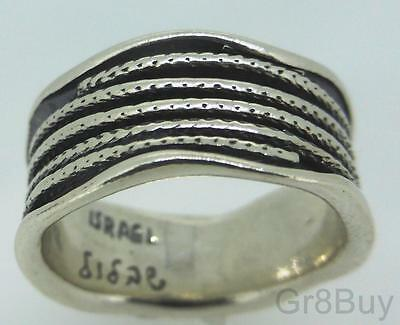 RING: LADIES 925 SILVER WAVY BAND  #7/8 & 9 (Made by Shablool)
