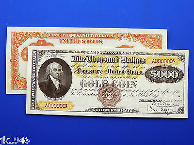 Reproduction $50 1913 Gold Certificate Note US Paper Money Currency Copy