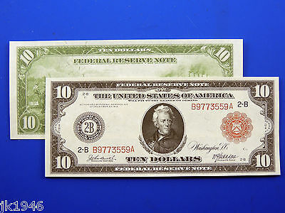 Reproduction $10 1914 Federal Reserve Note Red Seal US Paper Money Currency Copy