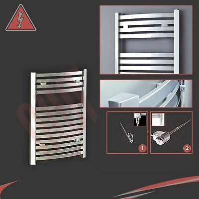 "500mm(w) x 800mm(h) ""Pandora"" Electric Chrome Designer Towel Rail Radiator 150W"
