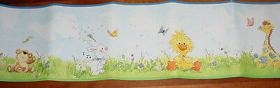 Little Suzy's Zoo Wall Border 15 ft wallpaper Suzy Witzy Boof Lulla Patches RARE