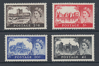 Great Britain Sc 309-312 MLH. 1955 Queen and Castles, complete set, VLH, fresh