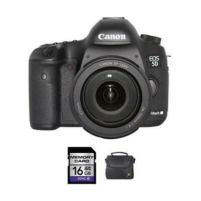 Canon EOS 5D Mark III DSLR Camera w/24-105mm Lens + 16GB & Case