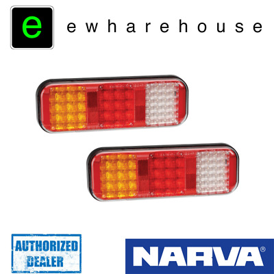 Narva 94210 9-33 Volt Led Rear Stop/Tail Direction Indicator Reverse Lamps Pair