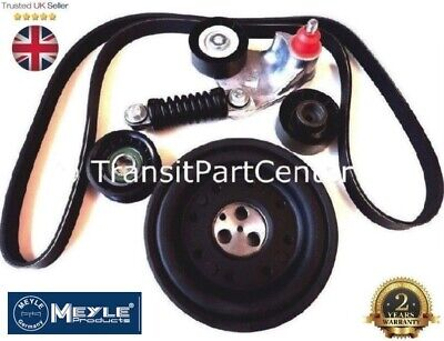 Fan Belt Crankshaft Pulley Tensioner Kit Mondeo Transit X Type 2.0 2.2 +A/c