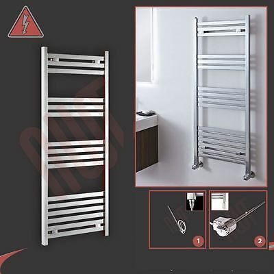 "500mm(w) x 1200mm(h) ""Andromeda"" Electric Chrome Designer Towel Rail 300W"