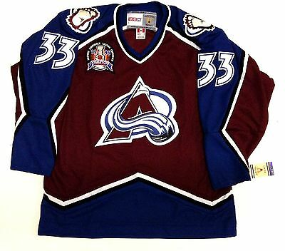 online store 25578 a83cf NWT PATRICK ROY Colorado Avalanche Throwback Home Jersey CCM ...