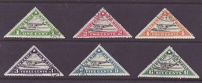 Liberia # C3A-F Complet 1936 Set Triangle Airplane