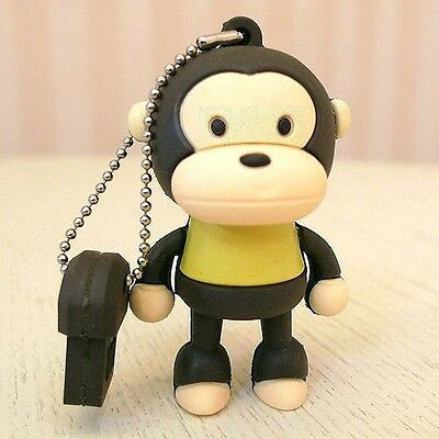 8GB Baby Monkey Silicon USB 2.0 Flash Memory Drive Disk Stick Shockproof YELLOW