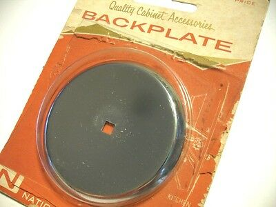 "Vintage 1950's NOS Chrome Round Knob BACKPLATES 2-1/2"" Concave national Lock"