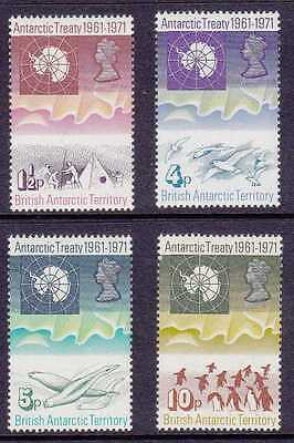 British Antarctic Territory #39-42 Mnh 1971 Set Of 4, Cv$53.50 Gp20