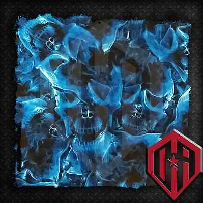 Hydrographic Water Transfer Hydrodip Hydrodipping Film Hydro Dip Flame Skulls