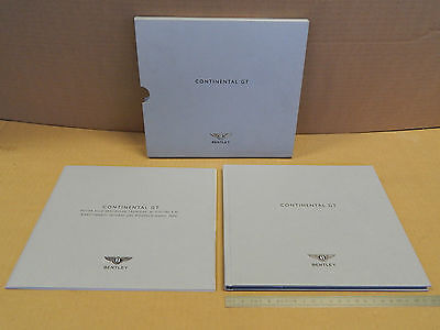 Depliant Originale Bentley Continental Gt 2009 Italiano Brochure Promo Prospekt