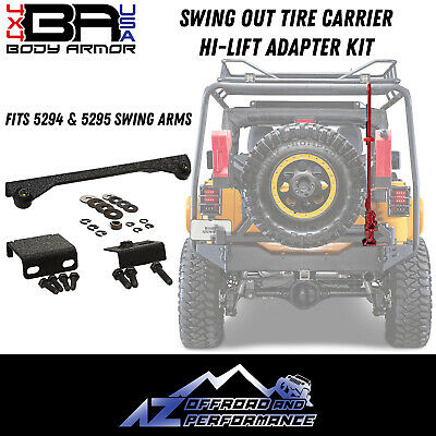 Body Armor 4X4 Hi-Lift Jack Adapter Kit 3 Pc. 97-18 Jeep Wrangler TJ LJ JK 5128