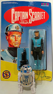 Captain Scarlet : Captain Blue Carded Actionfigure Made By Vivid Imaginations