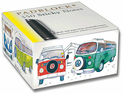 VW CAMPER VAN Sticky Post It Notes Pad Block Notebook Notepad Book Paper