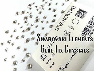 Latest/new Style 2088 - Swarovski Crystals Clear Foiled Flat-Back All Sizes