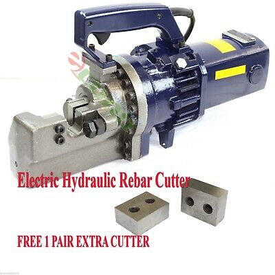 "Electric Hydraulic Rebar Cutter 1"" ( #8) Heavy Duty Cutting FREE TWO EXTRA BLADE"