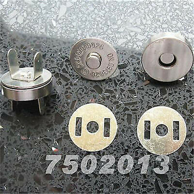 """50 Set Silver Magnetic snaps purse closures, 18mm 3/4"""""""