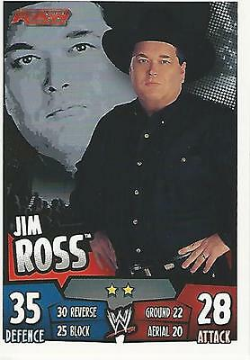 WWE Topps Slam Attax Rumble Trading Card Jim Ross