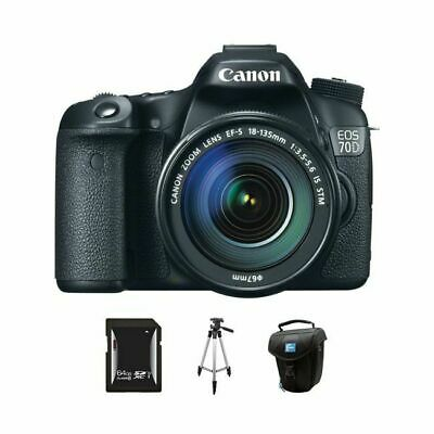 Canon EOS 70D DSLR Camera w/18-135mm Lens 64GB Kit