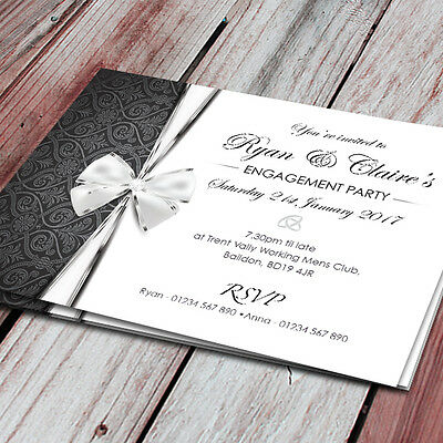 75 Personalised Engagement Party Invitations, Invites, with Envelopes