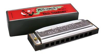 """Hohner Old Standby Harmonica  in the Key of """"C"""" - Model 34 - NEW IN BOX !"""