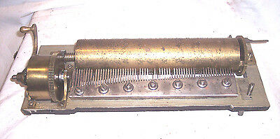 OLD ANTIQUE SWISS CYLINDER MUSIC BOX PART