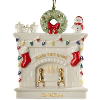 Lenox ~ Bless This House Ornament Hearth ~ Mint in Box ~ NOT Personalized
