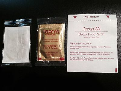 100x DreamMi GOLD Premium Detox Foot Patch Powder Pack + Adhesive Plaster Tape