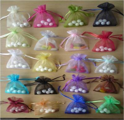 """Limited Offer 100pcs 2""""- £3.49 Organza Wedding Favour Gift Bags Jewelery Pouches"""