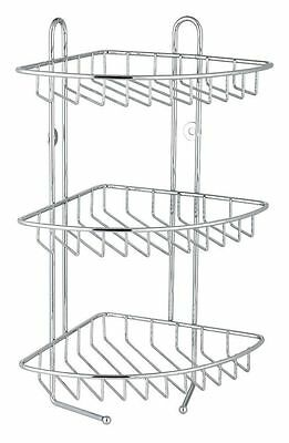 3 Tier Stainless Steel Corner Shower Caddy Bathroom Rack Shelf Organizer Unit