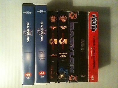 Babylon 5 VHS Lot + Captain Power and the Soldiers of the Future VHS