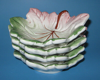 Carraro Leaf Dishes Bowls Set of 4 Made in Italy Dish Bowl