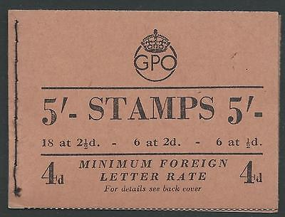 BD30(1), 5s BOOKLET WITH COLOUR CHANGE STAMPS FINE & FRESH