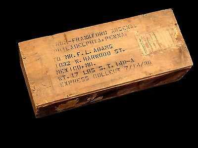 ROCK ISLAND EMPTY ARSENAL SHIPPING CRATE WOODEN BOX